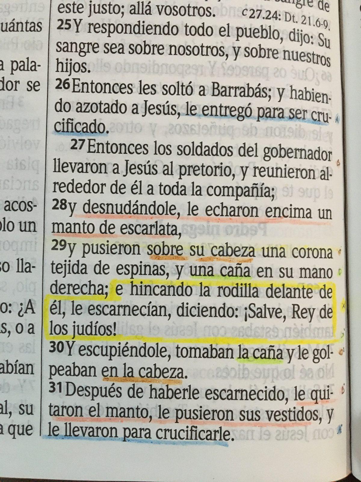Quiasmo de Mateo 27.26-31