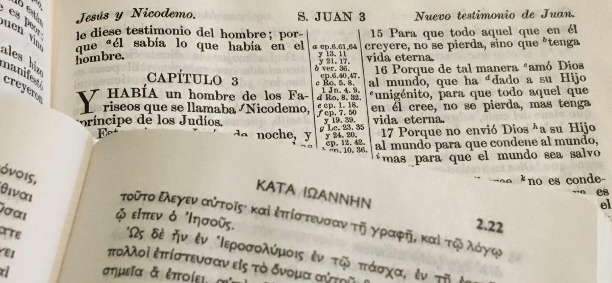 Leer y comparar el texto de la Biblia